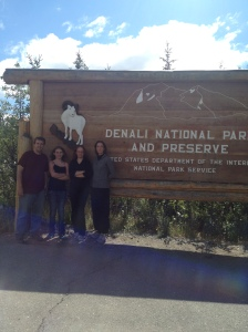 Entrance sign to Denali National Park